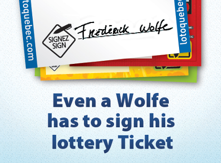 Even a Wolfe has to sign his lottery ticket