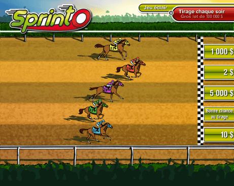 Course de chevaux (sélection à 2 $)