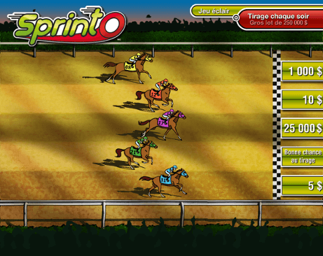 Horse race ($5 selection)