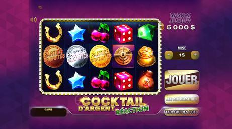Cocktail d'argent réaction