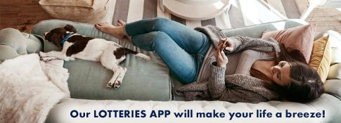 Our Lotteries app will make your life a breeze!