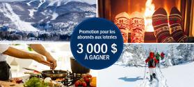 Promotion Profitez de la relâche au Québec