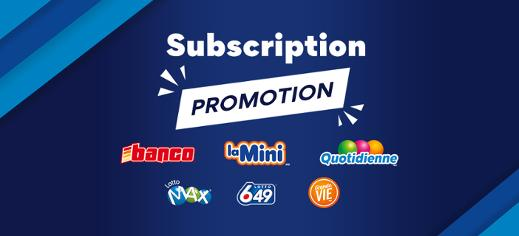 Online promotion - Lottery subscription
