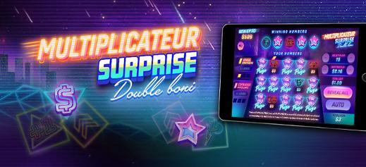 Multiplicateur surprise Double boni