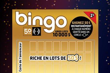 Bingo édition 50 ans