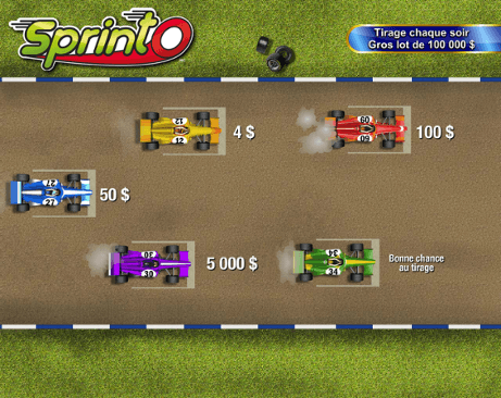 Racecar starting lineup $2 play
