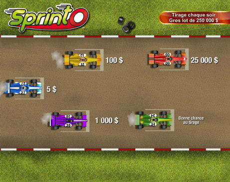 Racecar starting lineup ($5 selection)