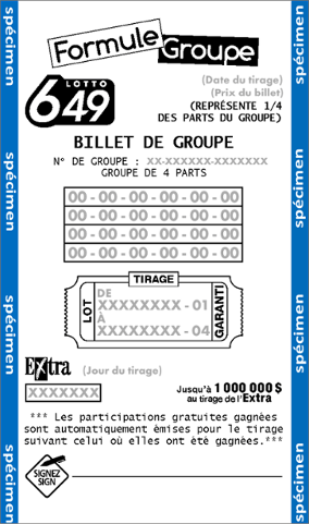 Billet Formule Groupe