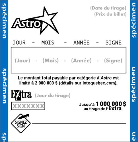 Astro - Loteries - Loto-Québec