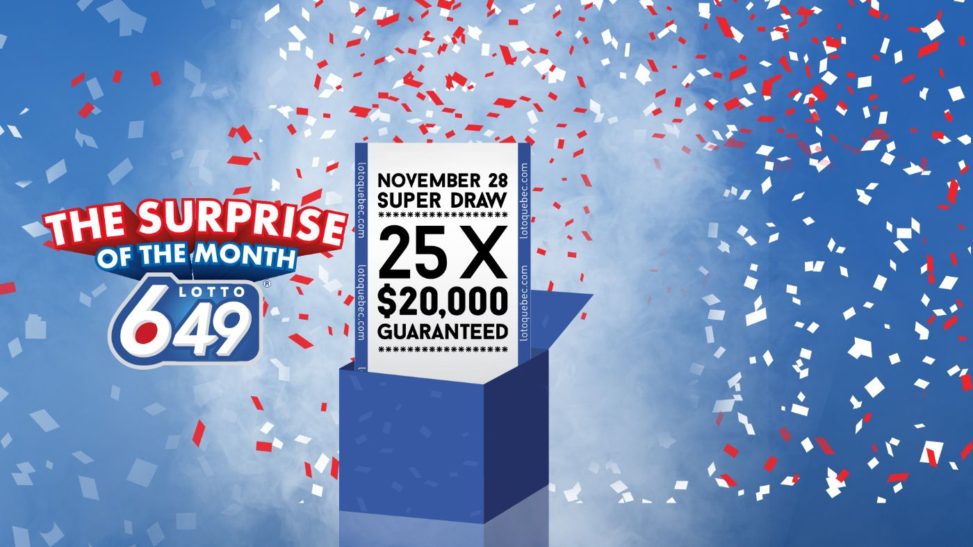 Lotto 6/49 - the surprise of the month - November 28 Super draw