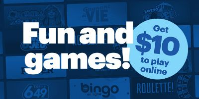 Fun and games! Get $10 to play online